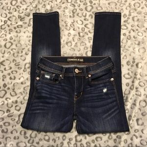 Express cropped legging jeans mid rise